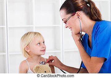 pediátrico, examen