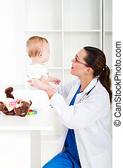 pediatra, e, bebê
