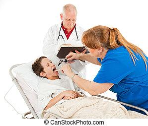 pediatria, -, infeliz, paciente