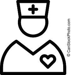 Pediatric doctor icon, outline style - Pediatric doctor...