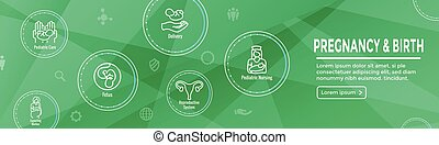 Pediatric Medicine with Baby / Pregnancy Related Icon -...