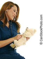 Pediatric nurse - Attractive Caucasian pediatric nurse