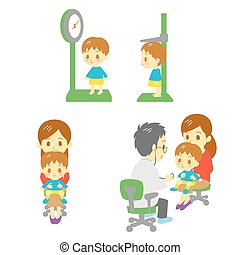 pediatrics department, vector file