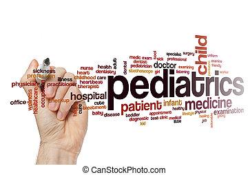 Pediatrics word cloud concept