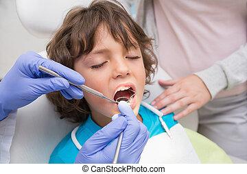 pediatrisk, tandlæge, ransage