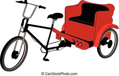 pedicab, não, cobertura