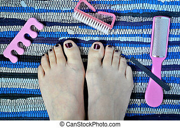 pedicure and cleaning of the feet