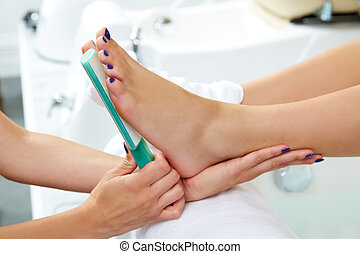 Pedicure dead skin remover feet care woman