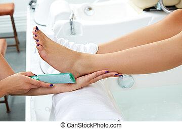 Pedicure dead skin remover feet care woman