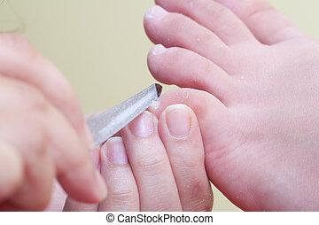 Pedicure procedure - Professional pedicure beauty procedure...