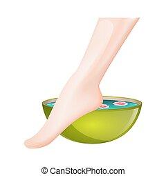 Pedicure spa female feet