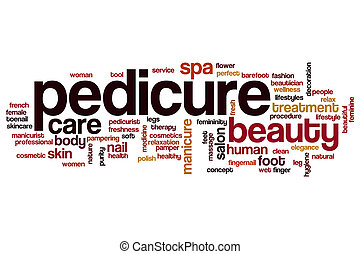 Pedicure word cloud