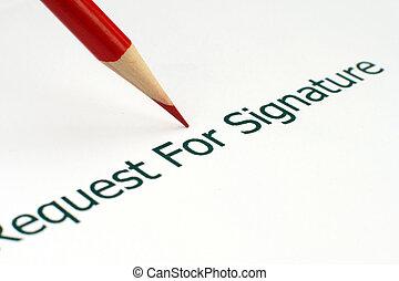 pedido, assinatura