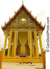 Pediment of a Buddhist temple