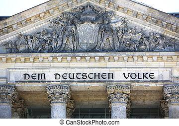 Pediment Reichstag Building Berlin - Pediment of the...