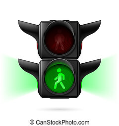pedone, semafori