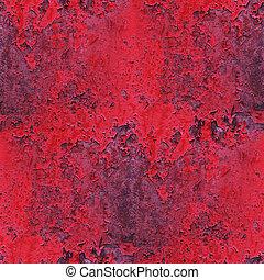pedra, antigas, fundo, parede, abstratos, papel parede, seamless, textura, enferrujado, ferro, pintura, grunge, vermelho, tecido