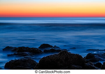 pedra, Atlântico,  coquina, alvorada