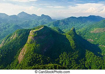 View of Pedra Bonita from Pedra da Gavea.
