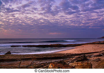 Pedra Branca beach in Ericeira village, Portugal. - View of ...