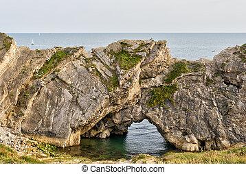 pedra calcária, formação, rocha