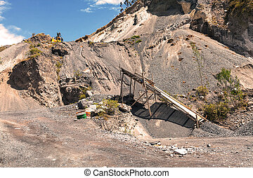 pedra calcária, pedreira, equador