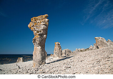 pedra calcária, pilares
