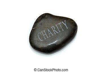 pedra, caridade