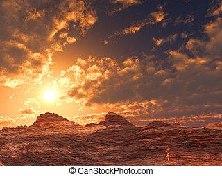 pedra, deserto