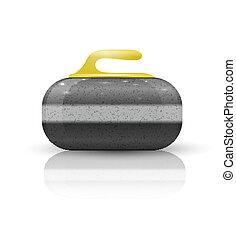 pedra, desporto, jogo, curling