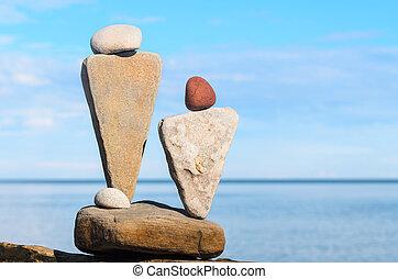 pedra, estatuetas, simbólico