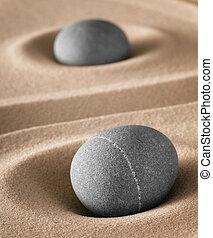pedra, jardim zen