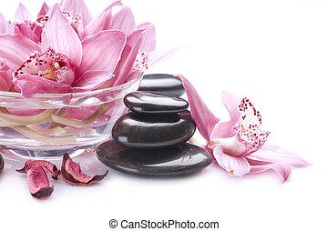 pedra, massagem, spa