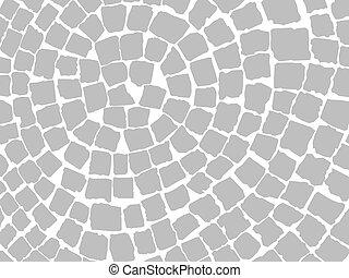 pedra, pavers, padrão