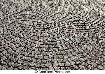pedra pavimentando