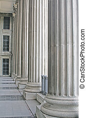 pedra, pilares, exterior, um, corte