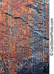 pedra, rachas, colorido, textura
