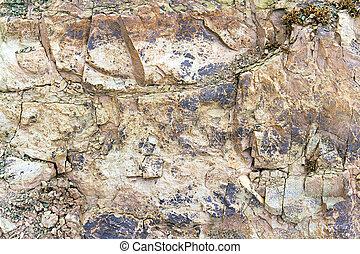pedra, rachas, rocha