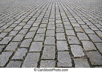pedra, rua, pavimento, estrada, textura