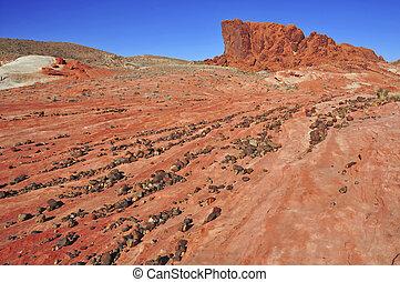 pedra vermelha, paisagem, sudoeste eua