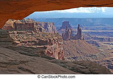 pedra vermelha, paisagem, sudoeste, eua
