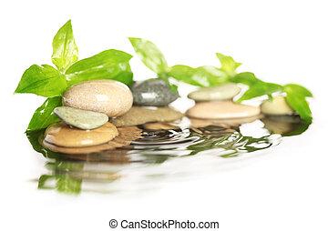 pedras, água