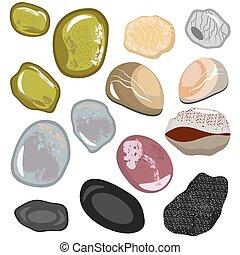 pedras, apartamento, estilo, jogo, polido, fundo, eps10.,...