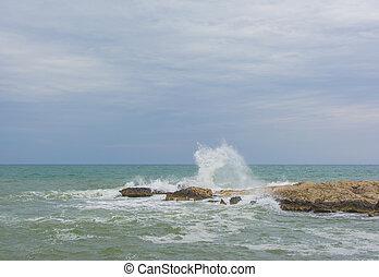 pedras, bata, ondas