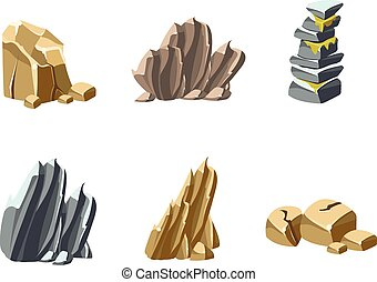 pedras, e, pedras, texturas