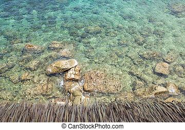 pedras, em, a, oceânicos, vista superior