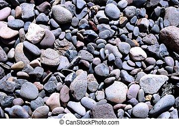 pedras, em, a, praia