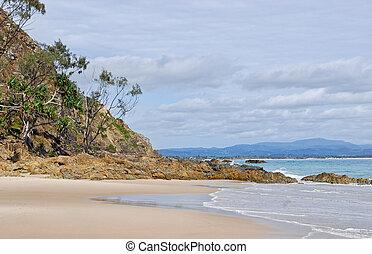 pedras, em, watergoes, praia, em, byron, baía, em, austrália