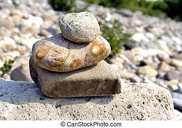 pedras, equilíbrio