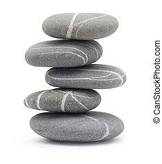 pedras, equilibrar